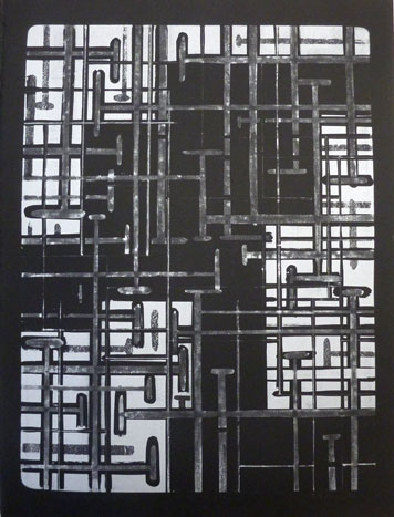 Peter Esdaile - Kinesisk eske svart-hvit variant I