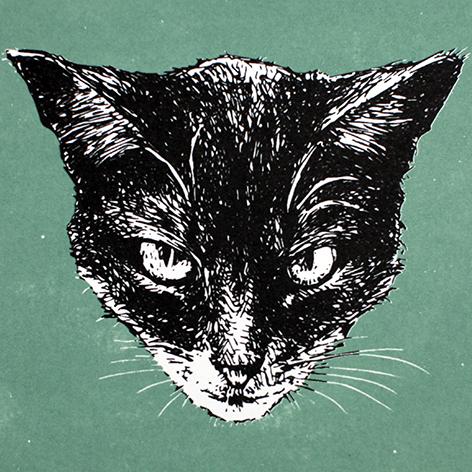 Jan Olav Forberg - Katt (grønn variant)