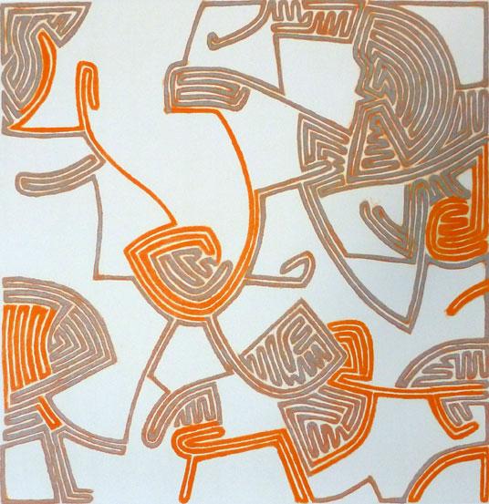 Karl Hansen - Uten tittel (grå/orange)