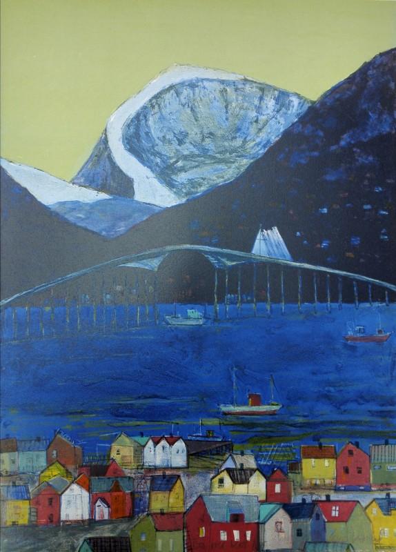 Bro over blått hav ny