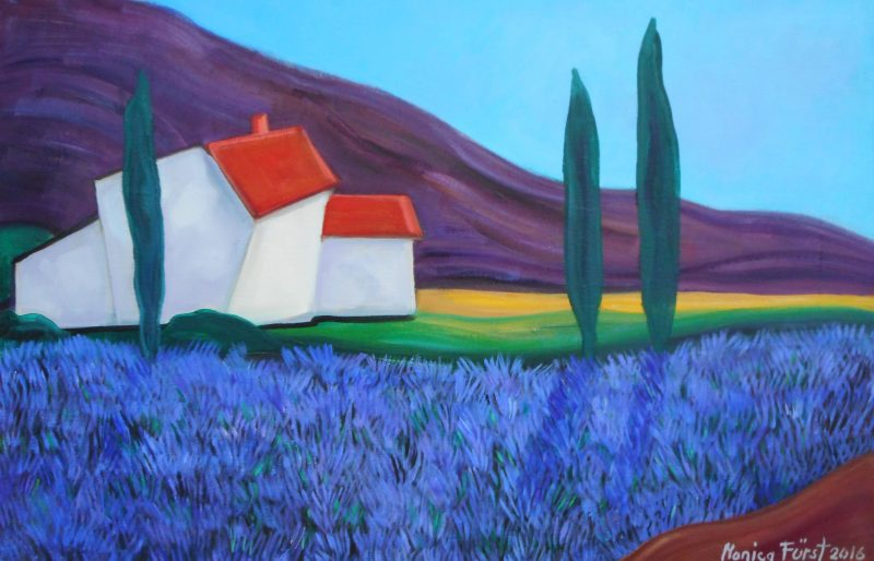 Lavendel 75x50 cm kr 9000
