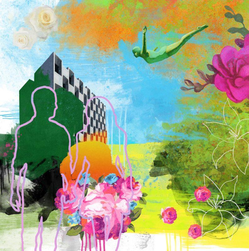 Funky garden lll 50x50