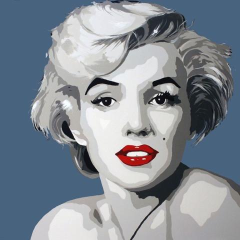 Miss Monroe blå 20 x 20