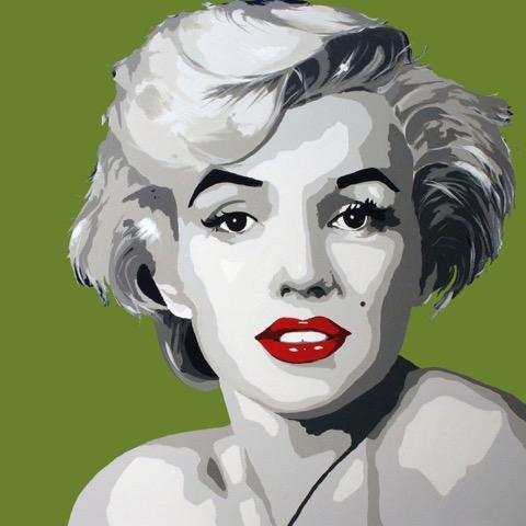 Miss Monroe lys grønn 20 x 20