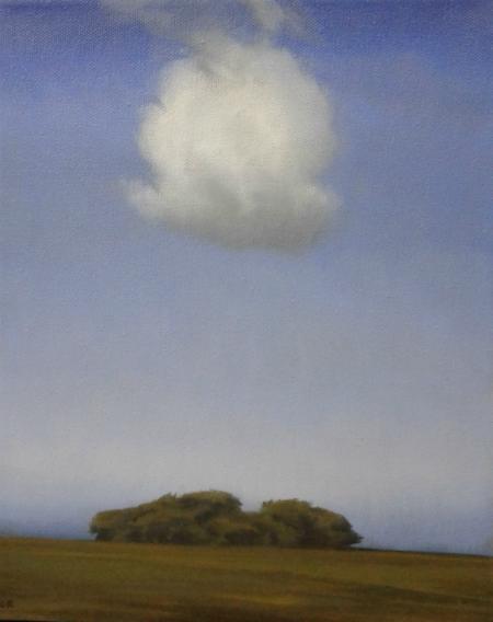 Maleri med sky I 24x30 cm web