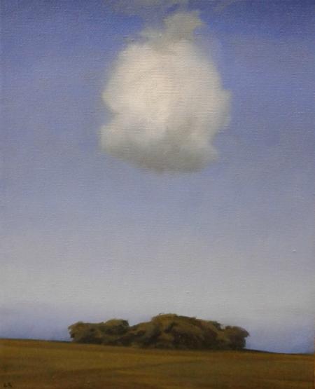 Maleri med sky II 24x30 cm web