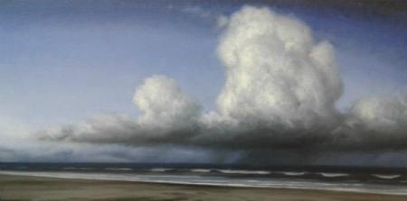 Maleri med skyer 80x40 cm web
