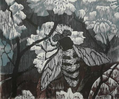 Blomsterflue - grå variant web