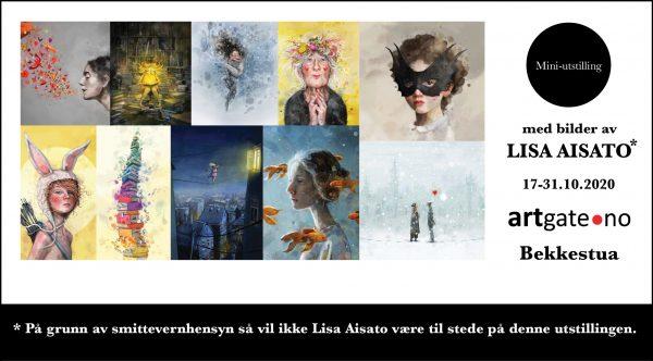 Mini-utstilling med bilder av Lisa Aisato